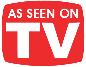 "Logo Produktwerbung ""As seen on TV"""