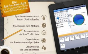 Screenshot mit Grundfunktionen der Meeting App beesy