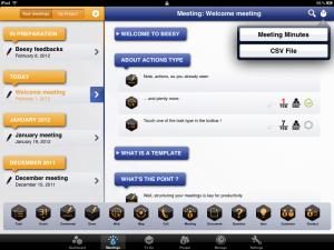 Screenshot der Beesy App