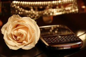BlackBerry  mit Rose