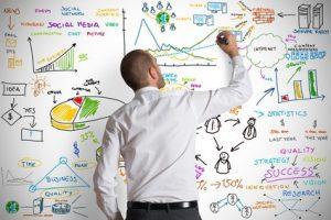 Wachstum auf Chart skizziert