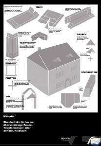 Bauanleitung für eine Haus aus Pappkarton Bankers Box von Fellowes