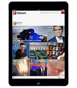 Screenshot Flipboard mit CNN-Inhalten