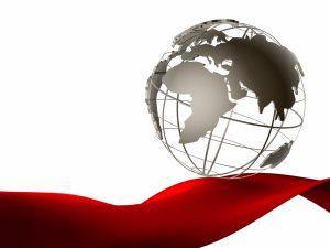 Globus als Symbol für Übersetzung und Marketing-Lokalisierung