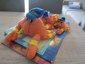 DIe Krabbe Bibi, das Markenzeichen voin Bibione