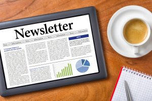 Newsletter auf Tablet-PC