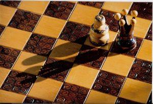 Schachspiel mit Taktiken zum Erfolg