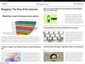 Screenshot der Zite App auf dem iPad