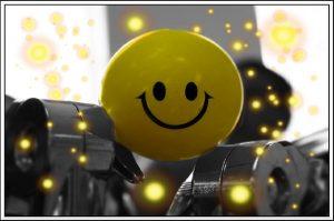 Smiley in Maschinenteilen