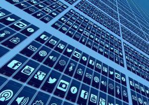 App-Icons als Symbol für die Aufgabe des Marketings