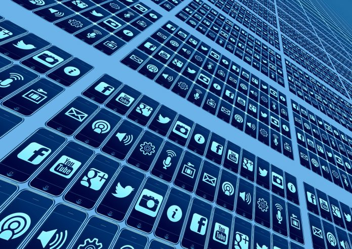 App-Icons als Symbol für die Rolle des Marketings