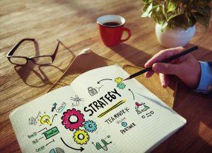 Marketingsstrategie im Skizzen- und Strategiebuch