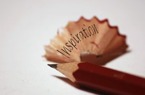 """Bleistift mit Wort """"Inspiration"""""""